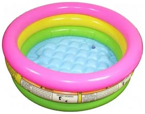 Water Tub Inflatable Pool 2 Ft Diameter Baby Bath Seat (Multi Color) Pack of 1