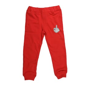 Wear your Mind Boy Poly cotton Track pants - Red