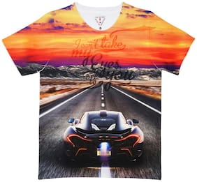 Wear your Mind Boy Polyester Printed T-shirt - Multi