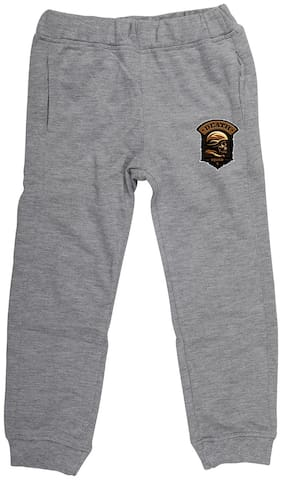 Wear your Mind Boy Poly cotton Track pants - Grey