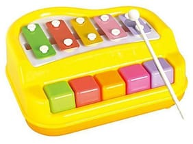 Webby Musical Xylophone and Mini Piano, Colour May Vary