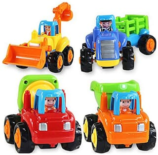Webby Unbreakable Construction Automobiles Toy Set, Multi Color (Pack of 5)