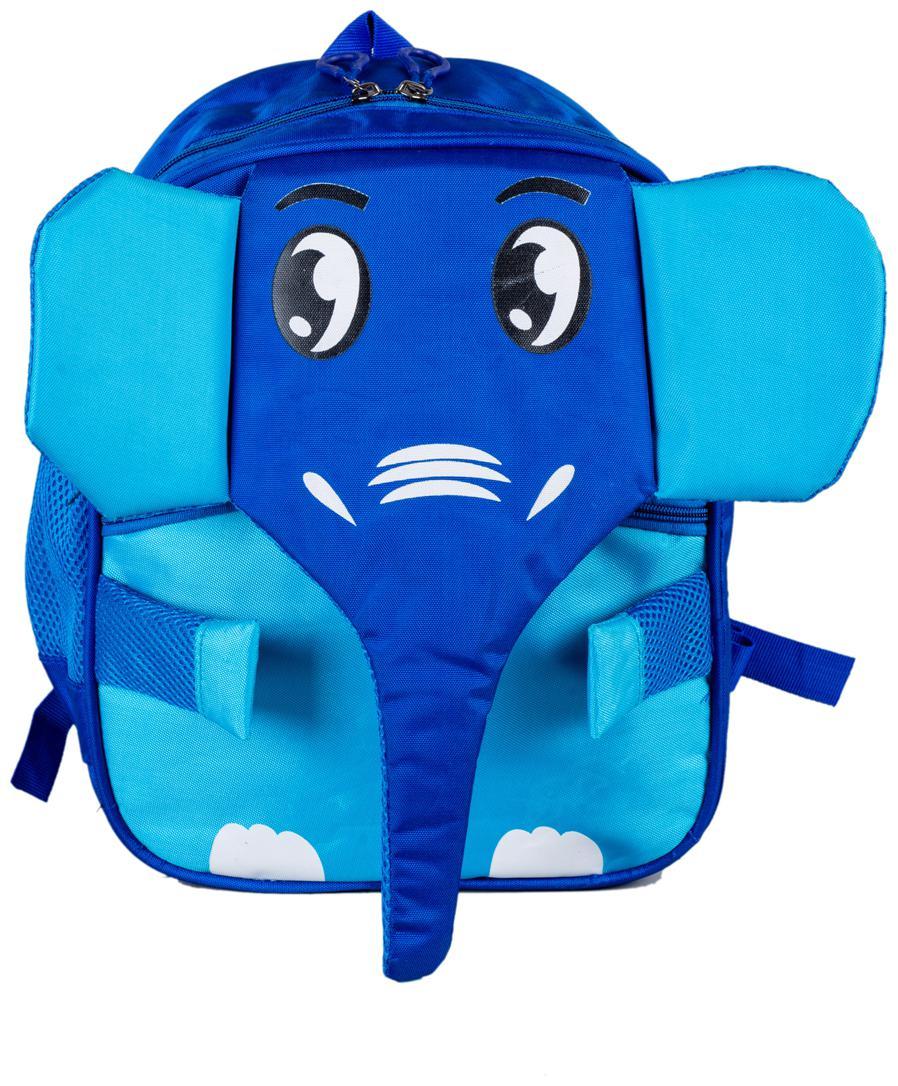 Wellmount Elephant Design 14  Kids School Bag  Blue