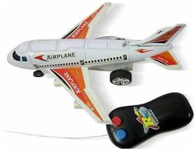 White And Blue Remote Control Plane