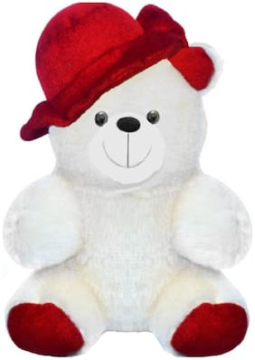 Baby Love White & Red Teddy Bear - 22 cm