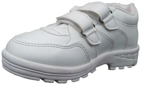 Polo White Boys School Shoes