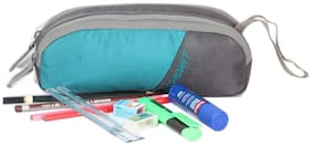 Wildmount multi utility Dual Compartment Pouch ( TURQUOISE BLUE & GREY )