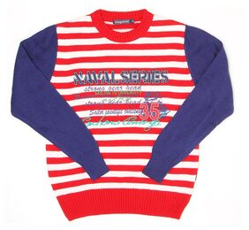 Wingsfield Boys Striped Red Sweater