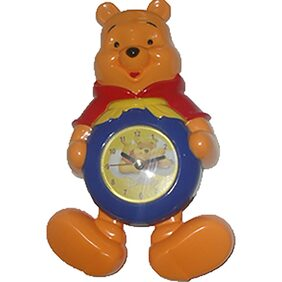 Winnie The Pooh Clock With Pendulum Kids Room  Wall Desk Watch Cartoon Character Kids Clock With Pendulum Legs Table Desk
