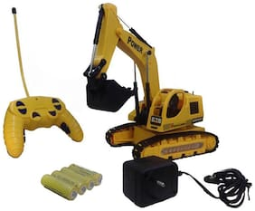 Wired Remote Control Jcb Construction Loader Excavator Truck Toy