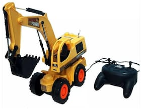 Wish Kart Remote Control JCB Construction Shovel Loader Excavator Truck Toy