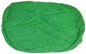 WOA Fashions Acrylic Nylon Hand Knitting Yarn - Pack of 2 (Natural Green)