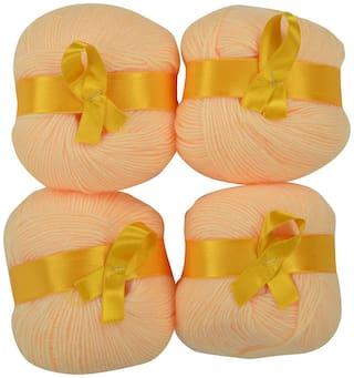 WOAFASHIONS LOVABLE Acrylic Hand Knitting Yarn (Peach) (200g)