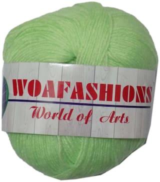 WOAFASHIONS LOVABLE Acrylic Hand Knitting Yarn (Light Apple Green) (200g)