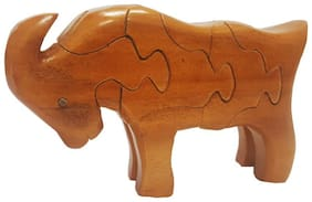 Wooden 3D Puzzle Statue Goat Toy Tabletop Gift