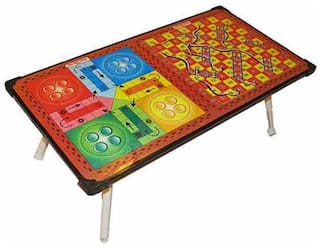 a5d191a67 Wooden Bed Table Multi-Purpose Foldable Study Printed Wd Ludo + Snakes   Ladders  Kids