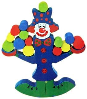 Wooden Clown Balance Puzzle