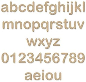 Wooden Letters And Numbers - Lowercase (medium Size - 4)