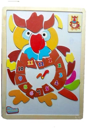 Wooden Magnetic Puzzle Board learning educational toy for kids - Owl