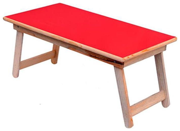 Wooden Multi Purpose Foldable Activity Study Table For Kids (Red)