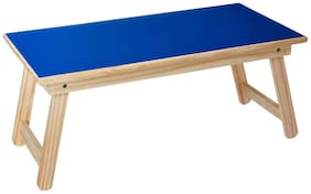 Wooden Multi Purpose Foldable Activity Study Table For Kids (Blue)