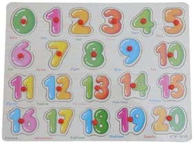 Tickles Wooden Number Board Puzzle Educational Learning Toy ( 1-20) for Kids 2 yrs Plus