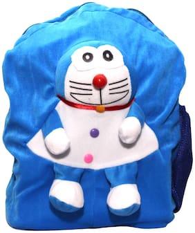 WOOS Cute Doremon School Bag For Kids - (Blue)
