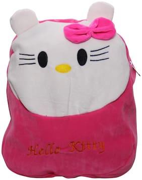 WOOS Cute Hello Kitty Kids School Bag - Pink;White