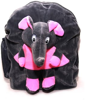 WOOS Fancy Elephant Bag Velvet Kids Bag - Grey