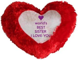 World's  Best Sister Cushion Cover By Mugshug