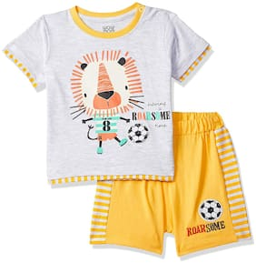 Wow Mom Baby boy Top & bottom set - Yellow