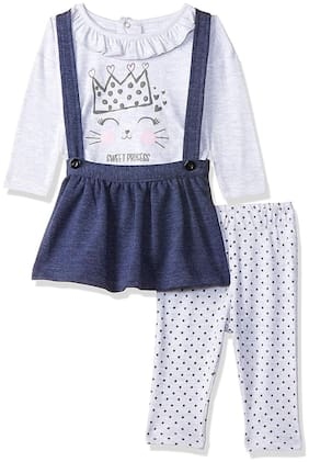 Wow Mom Baby girl Top & bottom set - White