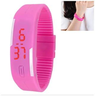 Wrist Band With Stylish Digital LED Sports Men Women Kid Wrist Watch Stopwatch