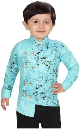 XBOYZ Boy Cotton blend Printed Kurta - Blue