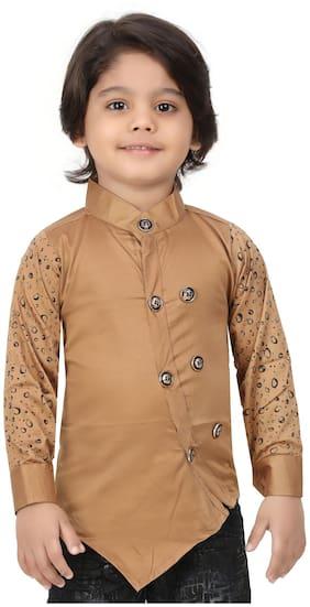 XBOYZ Boy Cotton blend Printed Kurta - Multi