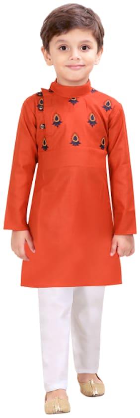 Orange Kurta Pyjama Set