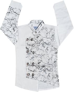 XBOYZ Boy Cotton blend Printed Shirt White