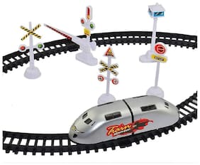 XOTIC Best Birthday Gift Metro High Speed Bullet Train Toy Train with Track Set & Signal Accessories Battery Operated Train Set for Kids | Bullet Train Toys for Kids