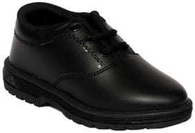 xpert Black Boys School Shoes