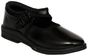 xpert Black School shoes For Girls