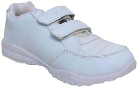 Xpert White Boys School Shoes