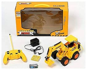 yatri enterprise Kids Wireless Remote Control Rechargeable Truck Excavator (Yellow)