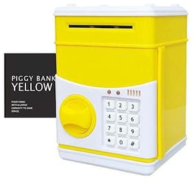 yatri enterprise Password Protected Money Saving Vault, Safe, Coin Piggy Bank, Desposite Box for Kids, Children Coin Bank