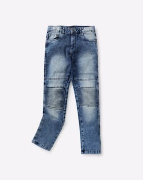 YB DNMX By Reliance Trends Boy Blue Jeans