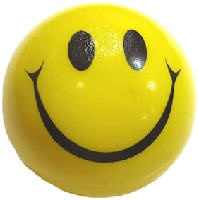 Yellow & Black Smiley Face Ball