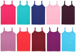 Yellow Chilli Camisole for Girls - Multi , Set of 10