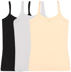 Yellow Chilli Camisole for Girls - Multi , Set of 3