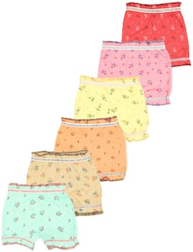Yellow Chilli Panty & bloomer for Girls - Multi , Set of 6