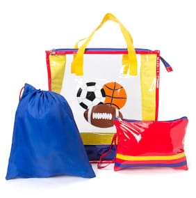 Yellow football Swimming tote