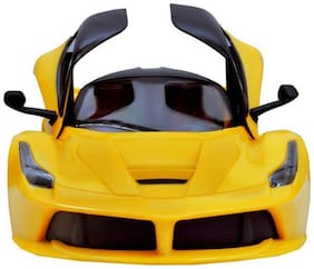Yellow Remote Charging Car